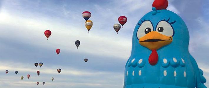 Balão da Galinha Pintadinha faz Participação Especial no Festival de Balonismo de Torres-RS
