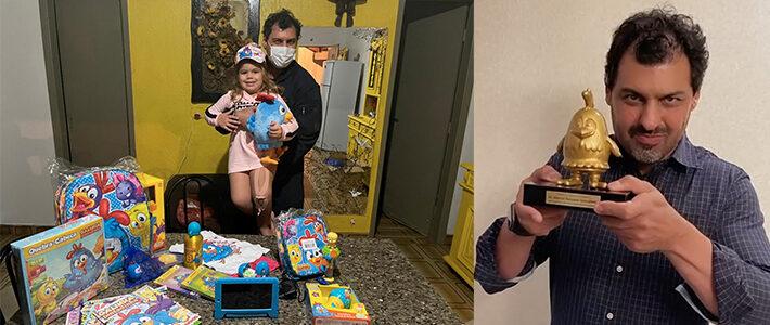 Galinha Pintadinha promove reencontro entre médico e menina atropelada no Paraná